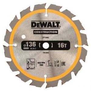 Циркулярен диск DeWALT Ф 136 Z 16 за дърво
