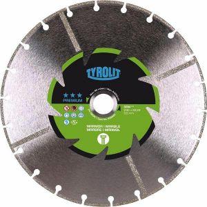 Диамантен диск Tyrolit за мрамор и фибростъкло Ф125