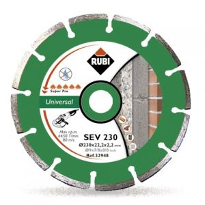 Диамантен диск Rubi за бетон, керемиди и мрамор Ф180