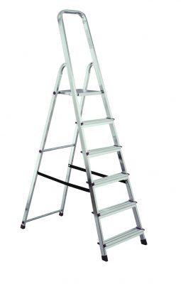 Домакинска алуминиева стълба Krause Corda 5+1