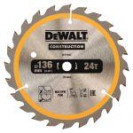 Циркулярен диск DeWALT Ф 136 Z 24 за дърво